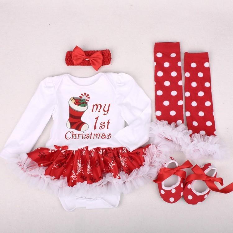 745cb3051 Compre Venta Caliente Mi Primera Navidad Bebé Niñas Mameluco Recién Nacido  Papá Noel Monos Bebés Bebe Traje De Bebé Traje De Vestir Trajes Y18102907 A  ...