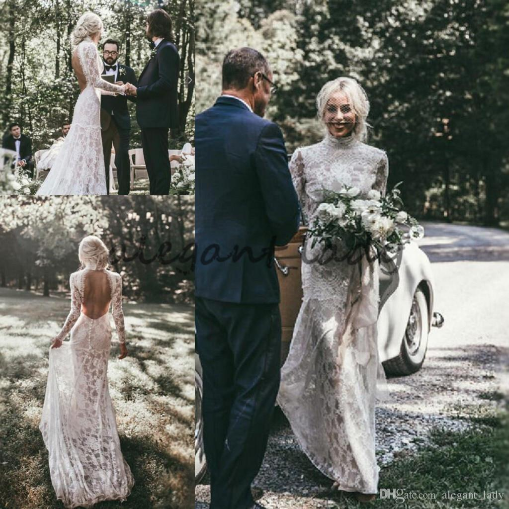 Vintage 1920s Boho Wedding Dresses With Long Sleeve 2018 Modest