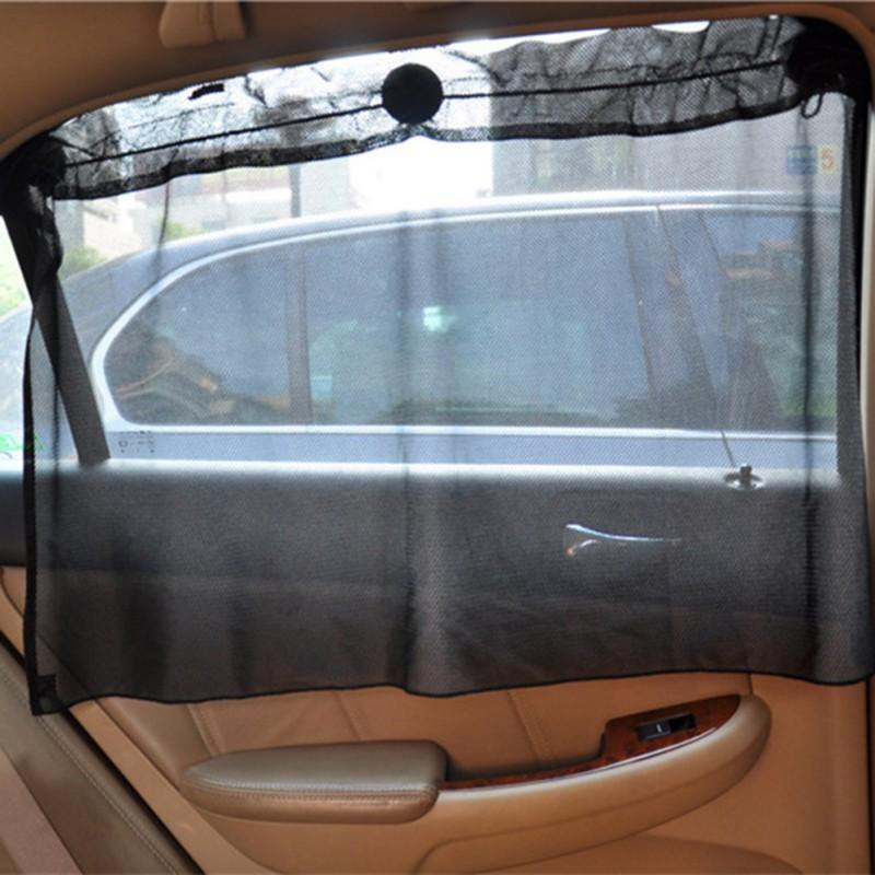 2 Pack Car Sun Shade Side Window Curtain Sun Uv Protection Mesh Fabric +  Suction Cup  Made For Windshield Side Windows BLACK Sun Visors Car Sun  Visors For ... b91f4bb1952