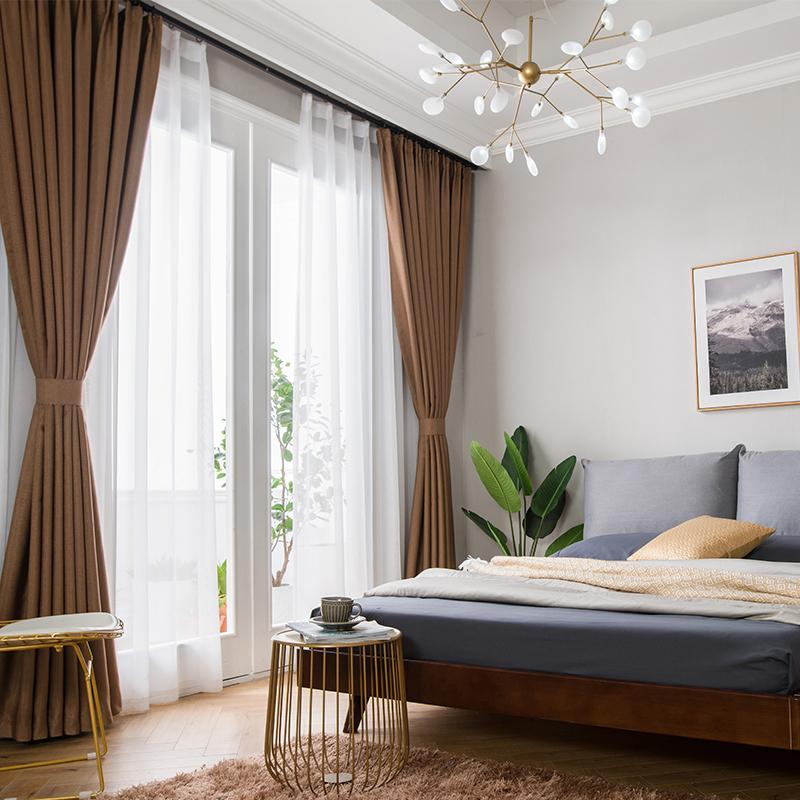 2018 Curtain Blackout Bedroom Solid Color Living Room