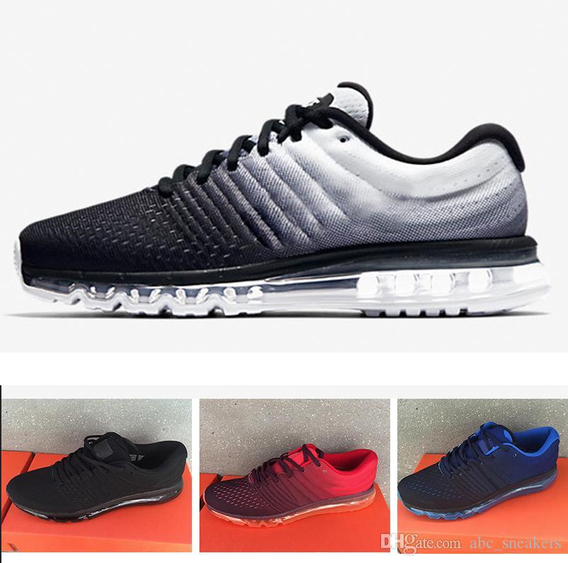 48f9ffdea4 Compre 2018 Nike Air Max 2017 Basketball shoes Venta Caliente De Alta  Calidad De Malla De Punto Ropa De Deporte Hombres Mujeres 2017 Zapatos  Casuales ...
