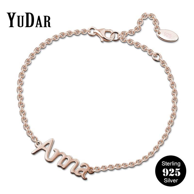 3a2062efce8b07 2019 925 Sterling Silver Personalized Name Bracelet Hot Selling Customized  Bracelets Gifts For Family Lovers Friends Girls YDS 1098 From Hilaryw, ...