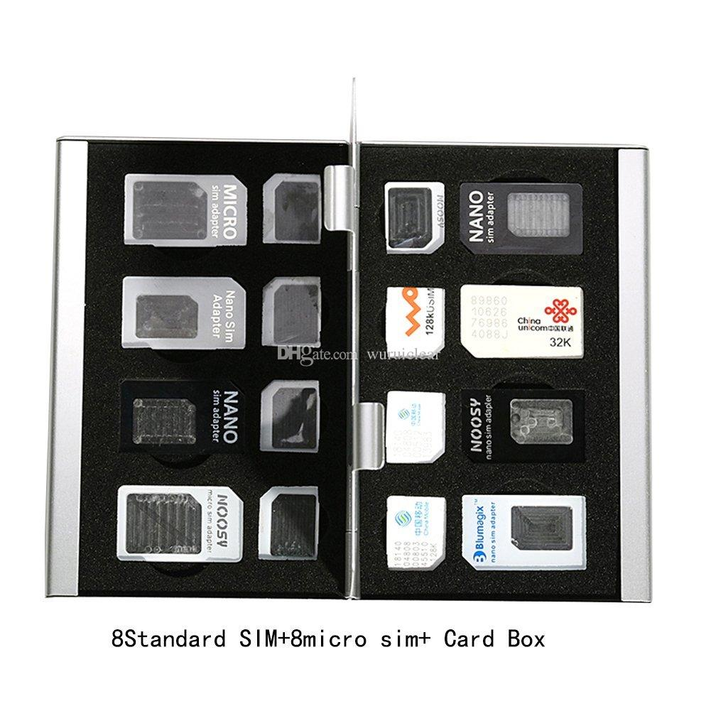 Metal Aluminum alloy SD Card Holder Case Mobile Phone Memory Card Storage Case