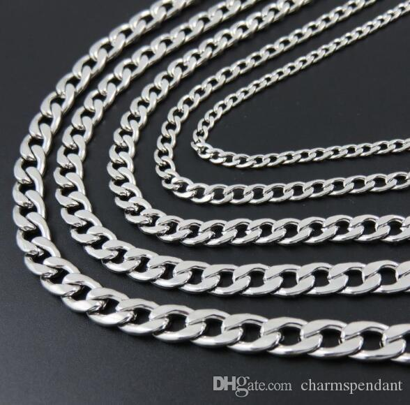 10meter 4/6/7/8mm in Bulk Jewelry Making Meters Beveled Flat Figaro Stainless Steel Unfinished 1;1 NK Chain DIY Jewelry Findings