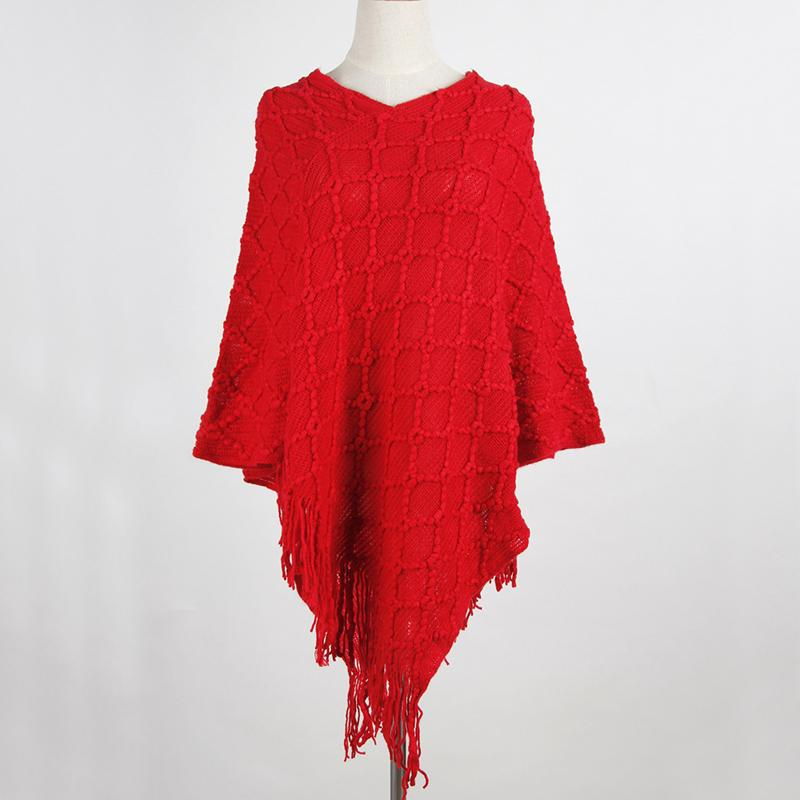 Spring knitted Women Pashmina Tassel Female Cotton Scarves Women Clothes Capes Soft Poncho High Quality Winter Scarves Women