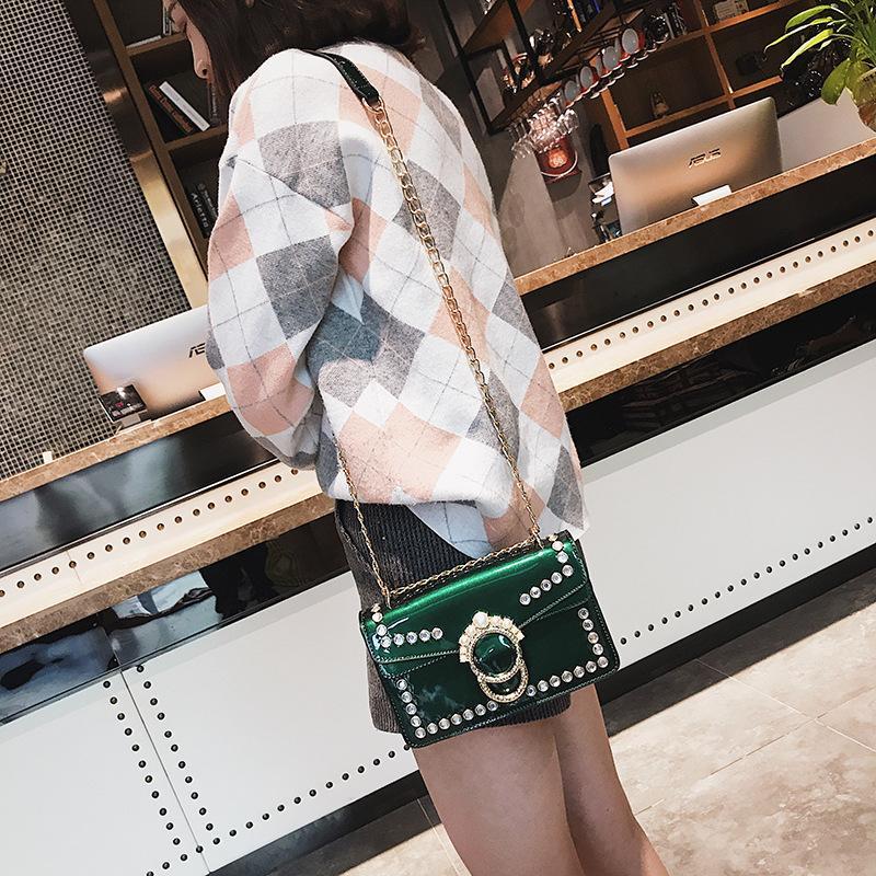 Moda mujer PU Bolsos de cuero Cadena Bolso bandolera Caja Bolso Bolsos Fiesta