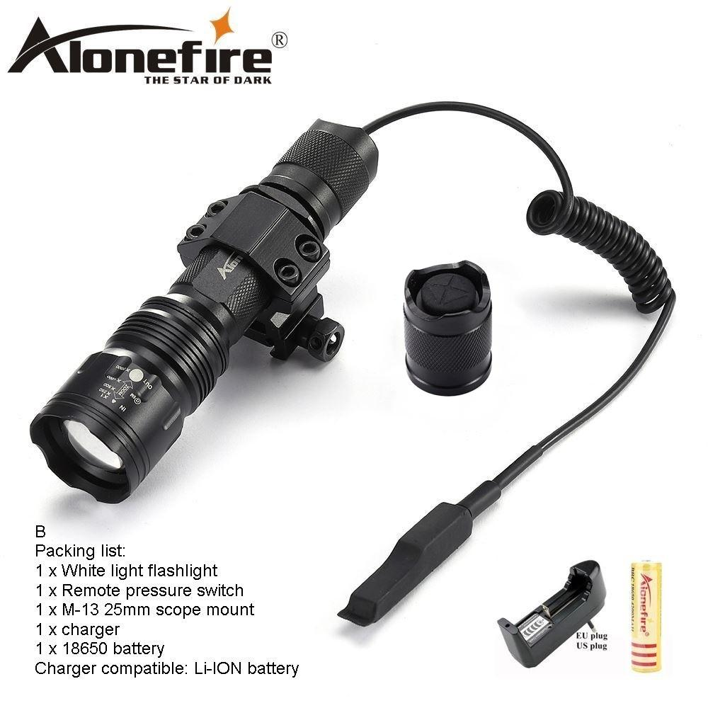 AloneFire TK104 Cree L2 LED Tactical Flashlight Powerful Bike Light Lamp Torch light Portable Flash light Camping Hunting for 1x18650