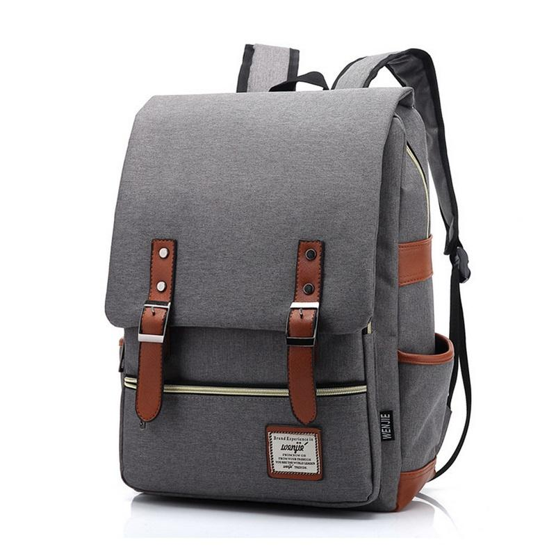 Vintage Women Canvas Daily Backpack Teenager Girls Boys Fashion School Bags  Student Campus Mochila Unique Men Travel Rucksack Laptop Bags Messenger Bags  ... efa93097b396d