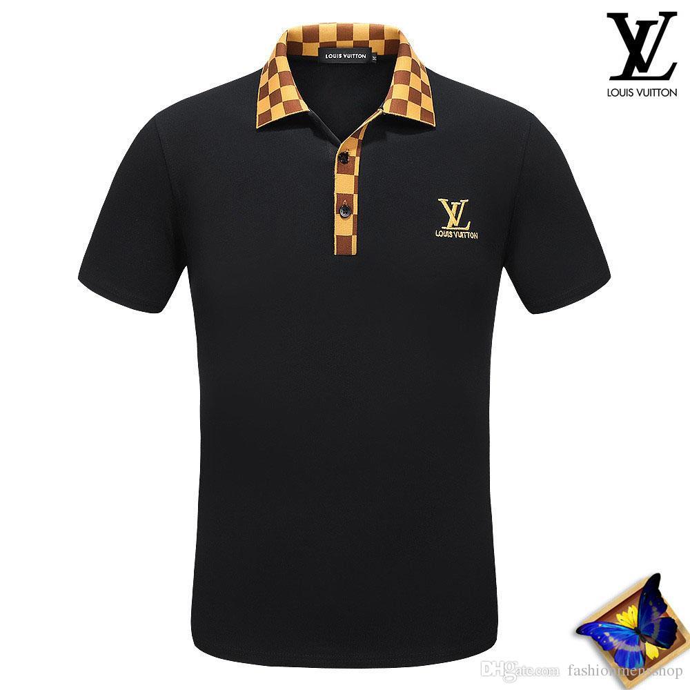 2019 Op Polo Short Long Sleeve Men Polo T Shirts Snake Flower Polo