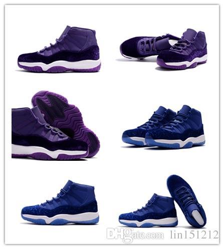 98d9d1992ea519 Wholesale Discount Cheap Velvet Heiress Blue Velvet Heiress Purple 11s Best  Quality Blue Black Basketball Shoes Men Size 36-47 Sneakers Wholesale  Discount ...