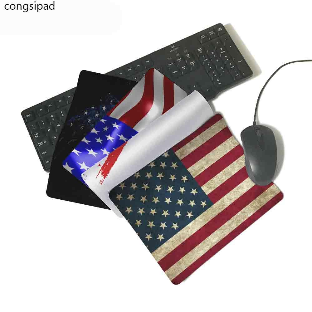 congsipad unique design usa flag slim mouse pad pads speed up mice