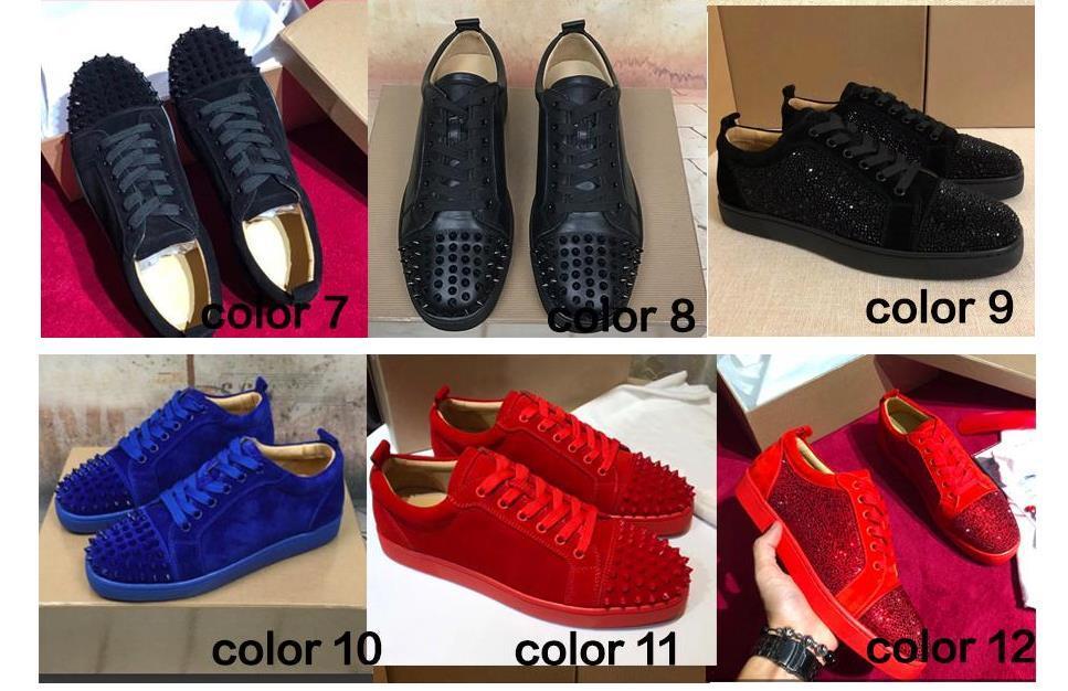 sale retailer 7e31e 445fb Acquista Nuovo Original Box Scarpe Da Uomo Red Bottom Sneaker Designer Di  Lusso Scarpe Da Sposa Di Design, In Vera Pelle Louisfalt Spikes Lace Up  Scarpe ...