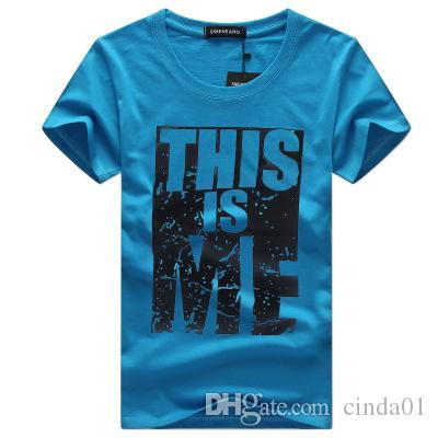 Youth Brand High Quality Cotton New O-neck Short Sleeve T-shirt Fintness Fashion Curve Top Clothing