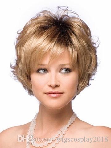 Cosplay Wig Short Curls Blonde Wig Hair Replacement Wigs Curl Hair