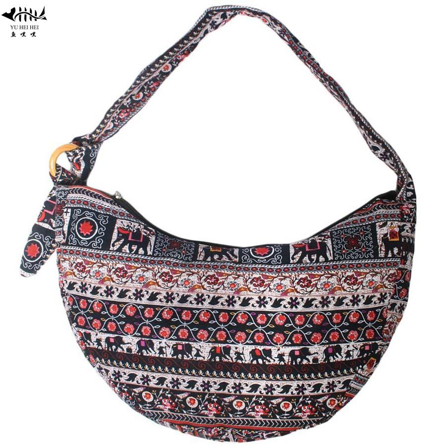 b70b37c6f5 Unique Bohemian Shoulder Cross Body Bag Women Cotton Canvas Boho ...