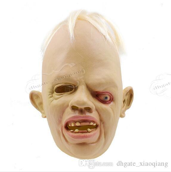 2017 Yeni Cadılar Bayramı Squinting Korku Canavar Maskesi Zombi Maskeleri Cadılar Bayramı Perili Ev Zombi Hood Korkunç Maske Ücretsiz Kargo
