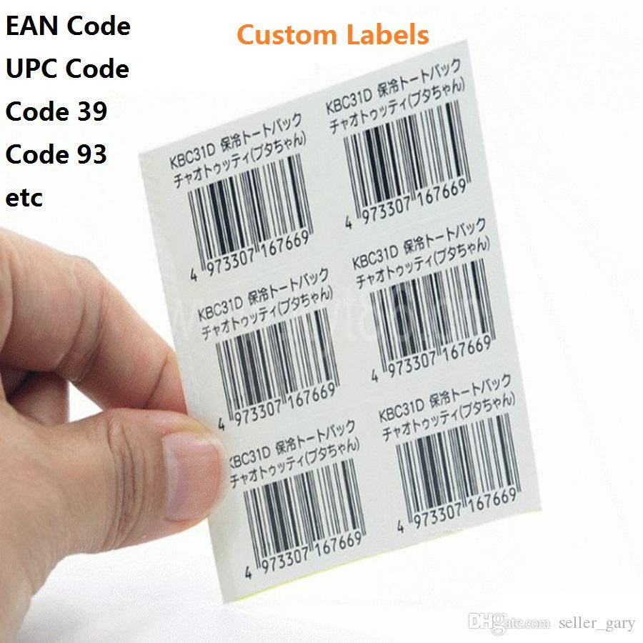 barcode labels print barcode adhesive stickers eanupc code labels serial number label custom materials of various sizes pet paper barcod label adhesive