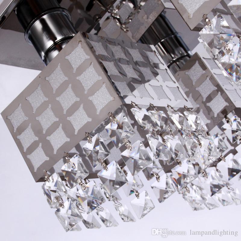 현대 심플한 디자인 광장 크리스탈 천장 조명 lamparas plafons 거실 침실 luminarias 파라 살롱