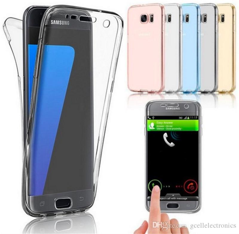 360 Full Clear TPU Cell Phone Cases For Samsung Galaxy S20 Plus Ultra A51 A01 Iphone 11 Pro Max Front and Back Cover
