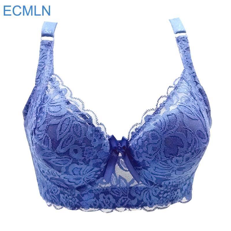 bd708c581 2019 Hot Full Cup Thin Underwear Small Bra Plus Size Wireless Adjustable  Lace Women S Bra Breast Cover B C D Cup Large Size 36 46 From Berniceone
