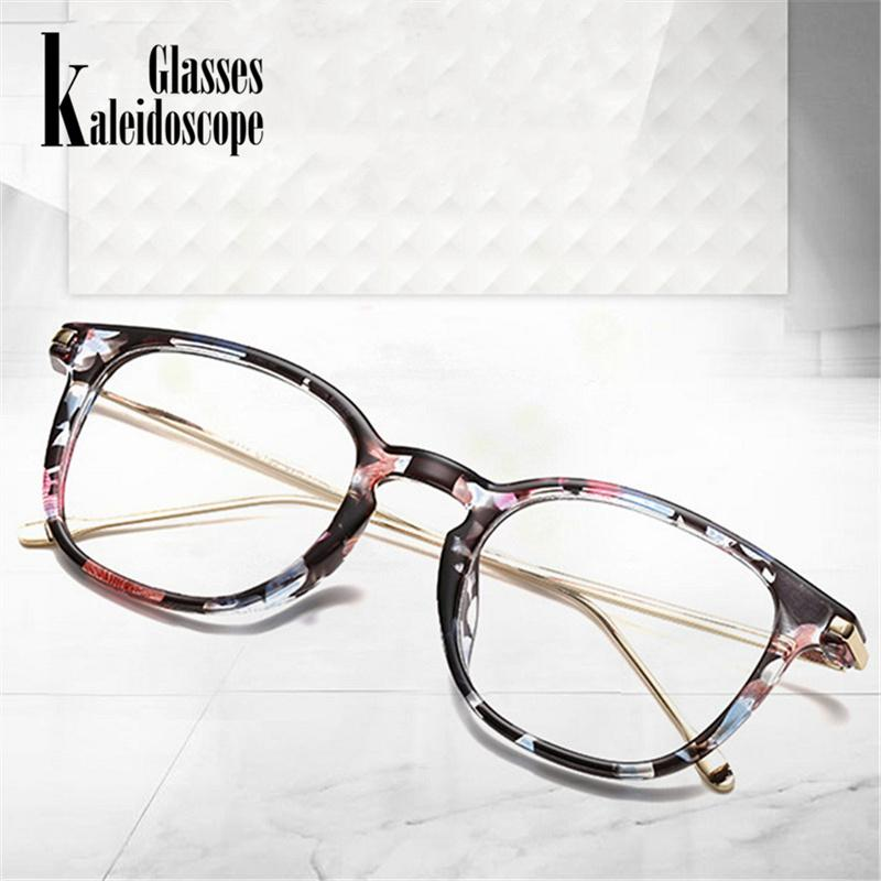 eccf4fe9e6 2019 Oversized Clear Glasses Frame Men Women Retro Metal Frame Transparent  Eyeglasses Spectacle Optical Frames From Bojiban