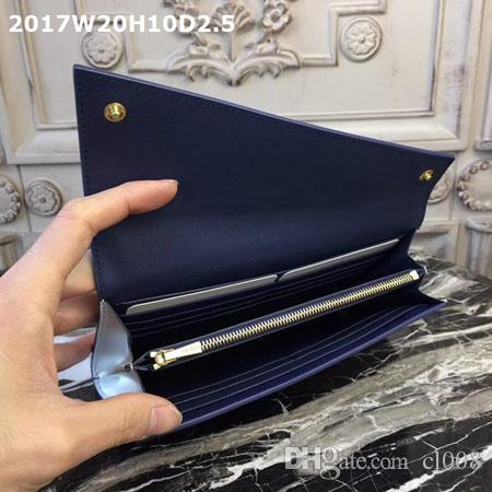 Des portefeuilles de femmes de qualité supérieure en cuir véritable avec une couverture oblique Une poche à glissière des couches intérieures de fente pour les cartes avec des boîtes d'origine