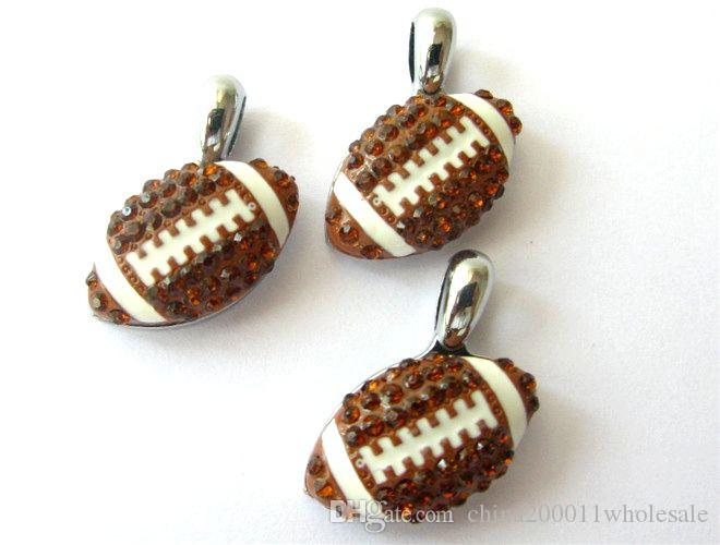 Encantos Fútbol Béisbol Cuelgue la joyería apta para mascotas collar de teléfono Tiras encantos del Rhinestone Cuelgue la joyería apta para mascotas collar de teléfono Tiras Neckllace