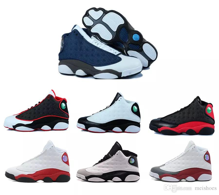 buy cheap dd82c a4e6e 13s Mens Basketball Shoes Phantom Chicago GS Hyper Royal Black Cat Flints  Bred Brown Olive Wheat DMP Ivory Grey Men Sports Sneakers Women Athletic  Shoes ...