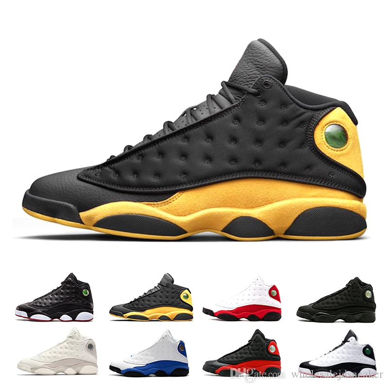new style d7660 57322 Großhandel Nike Air Jordan Retro 13 Shoes 2018 Basketball Schuhe 13 13 S  XIII Wolf Grau Hyper Königliche Schwarze Katze CHICAGO Höhe Gezüchtet Hat  Er Spiel ...