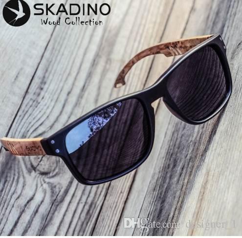 2fbaa7e3b5922 Compre SKADINO Gafas De Sol De Madera De Haya Polarizadas Gafas De Sol De Madera  Para Mujer Lente Verde Azul Marca De Moda Hecha A Mano UV400 A  27.42 Del  ...