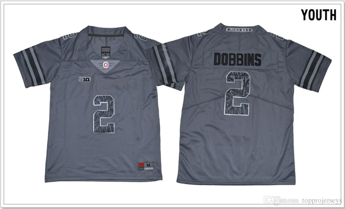 best service e1e11 2fcd5 Kids Ohio State Buckeyes #2 J. K. Dobbins Vintage College Youth American  Football Shirts Pro Jerseys Cheap Stitched Embroidery Free Shipping