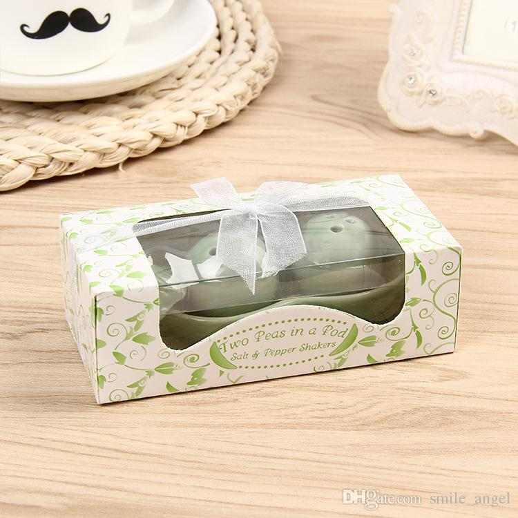 5Pcs/Lot New Classic Creative Wedding Favors Party Back Gifts For Guests Green Pea Seasoning Bottle Decorations