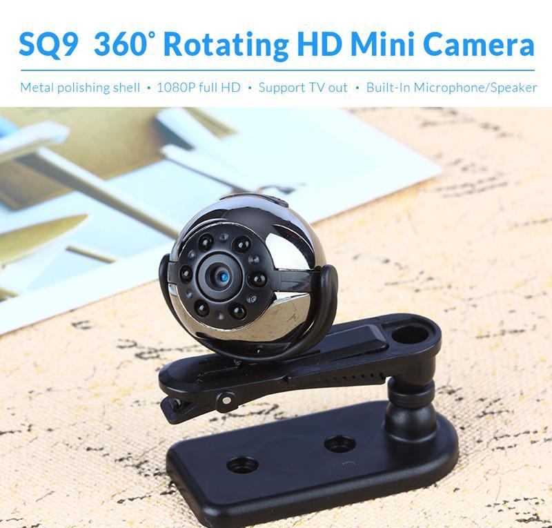 SQ9 Infravermelho Night Vision Mini Câmera Micro Câmera de Vídeo Gravador de 1080 P Motion Detection Camcorder Câmera Pequena 360 Graus