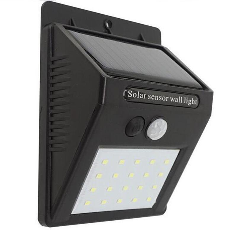 Éclairage Lampe 20 Panneaux Solaire Extérieure Détecteur Alimentation De Solaires Mouvement Ip65 Led Jardin Lumière Étanche W9DEHe2IY