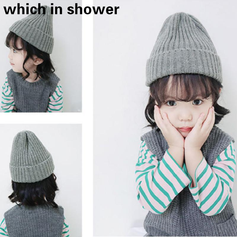 Solid Warm Woolen Skullies Beanies For Kids Boy Thick Knitted Hat Children Winter Hat Wool Cap Women Girl Ski Cap Bonnet