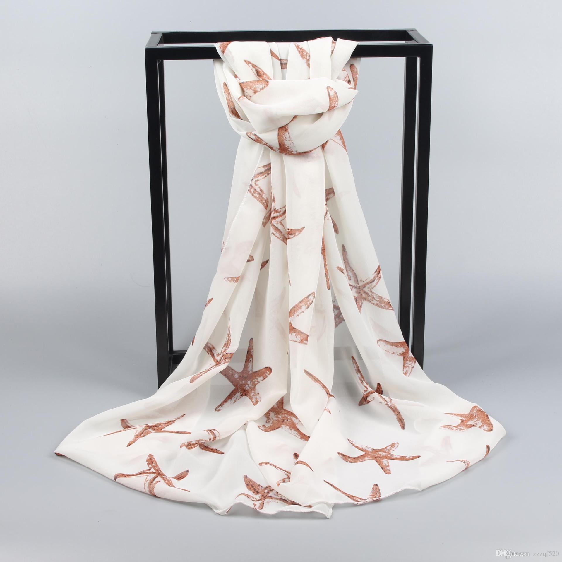 étoiles de mer étoile imprime plage foulard châle mode foulards châles pour femmes dames filles en été printemps