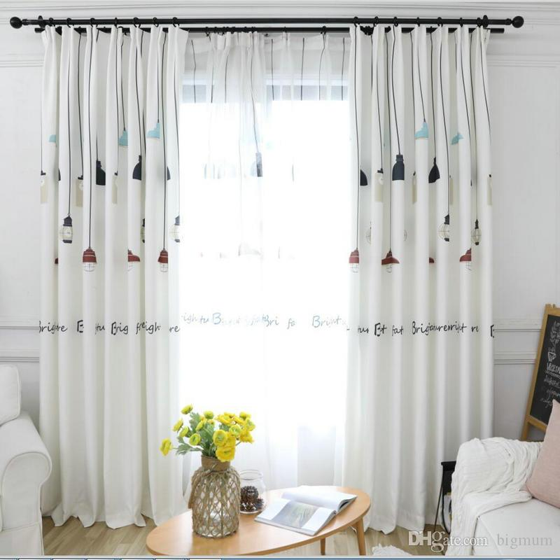 High Shading Blackout Curtains Chandelier Pattern For Living Room Kids Room  Thick Fabric Curtain For BedRoom Window Treatment UK 2019 From Bigmum, ...