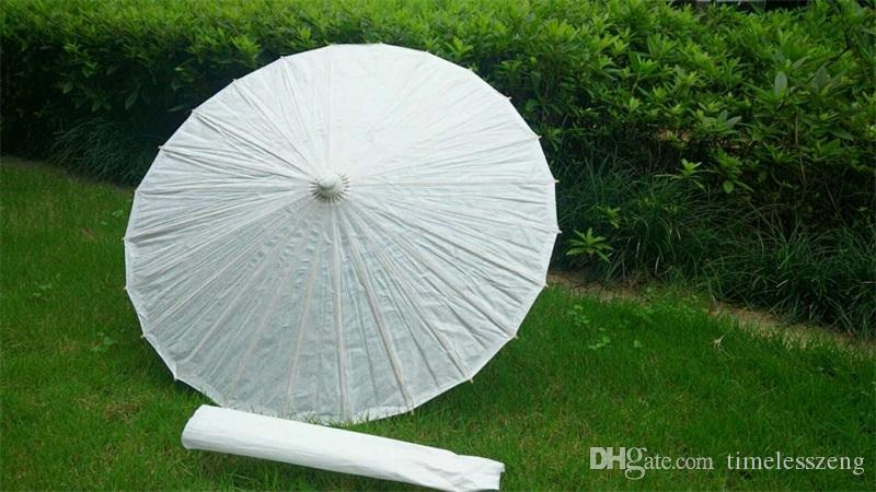 bridal wedding parasols White paper umbrella 5 diameter:20,30,40,60,84cm Chinese mini craft umbrella wedding favor decoration