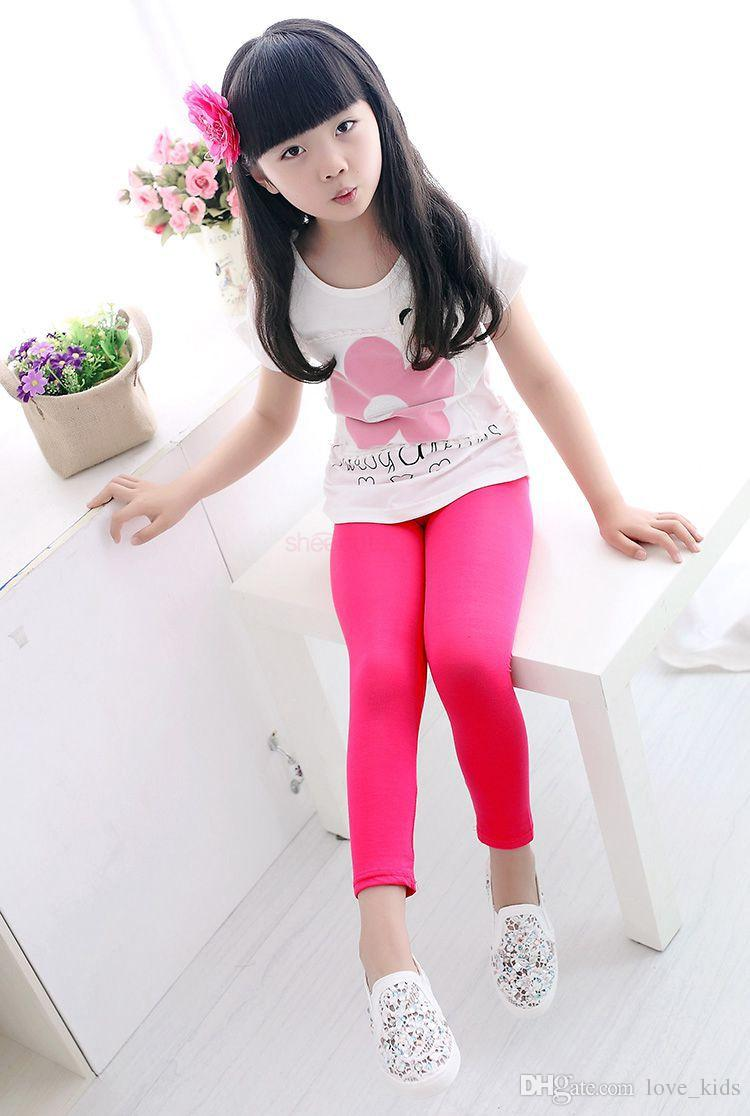 Spring Autumn Baby Kids leggings Children girls Candy colors Toddler baby solid Leggins pants Girls legging baby girl leggings