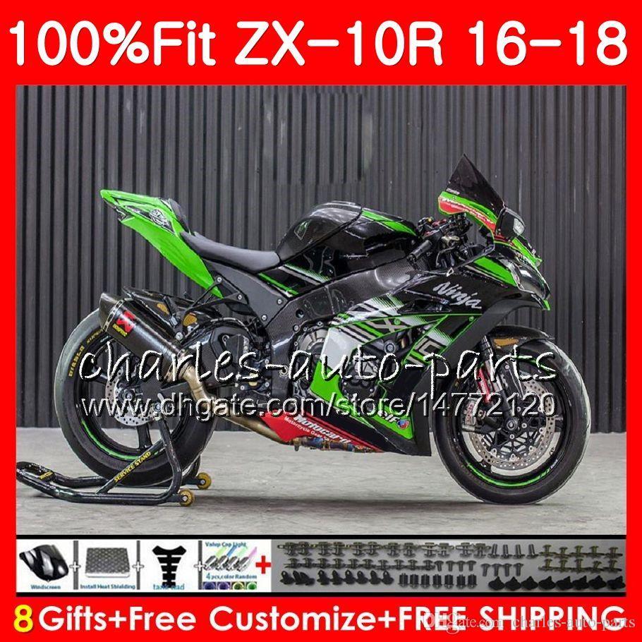 Injection Green For Kawasaki Ninja Zx 10 R 1000 Zx 10r Zx10r 16 17