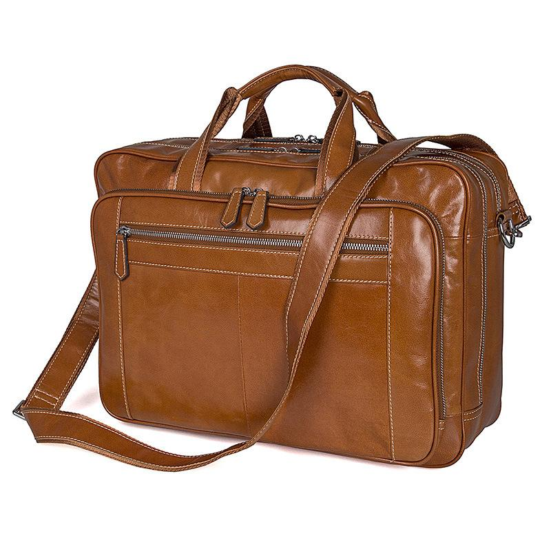 Engagement & Wedding Real Cowhide Briefcase Bags Gear Band Mens Casual Genuine Leather Shoulder Purse Messenger Laptop Tote Briefcases Handbag 14