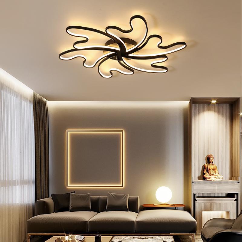 Acheter Lustre De Plafond Moderne Moderne Wave Plafonniers Led Lampe