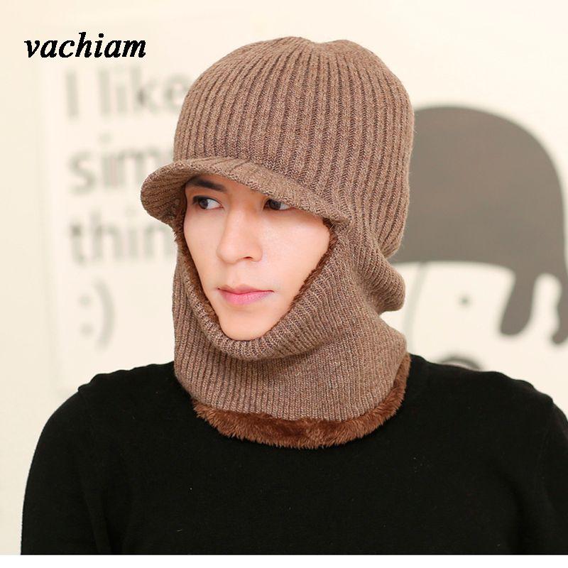 00f5491e900 Vachiam Balaclava Face Mask Winter Hats For Women Men Knitted Cap Neck  Warmer Caps Winter Hats For Men Women Beanie Fur Warm Canada 2019 From  Yarqi