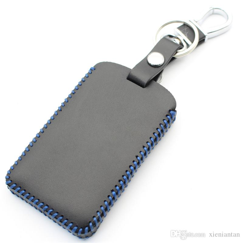 Genuine Leather 4Button Smart Key Case Cover For Renault Clio/Scenic/Megane/Duster/Sandero Car Styling L2002
