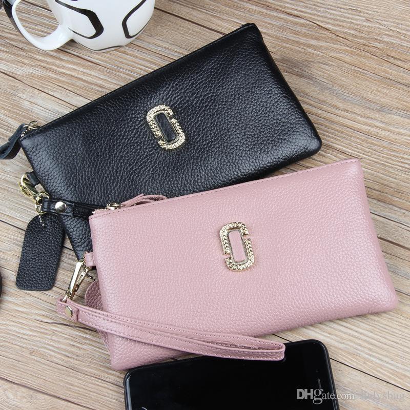 9a4a2459fac8 Quality 2018 New Leather Clutch Bag Ladies Zipper Bag European And ...