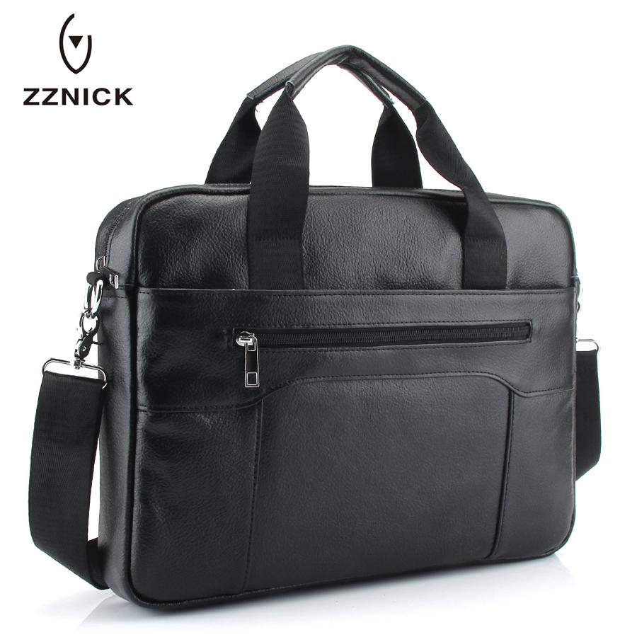 9ea194f241 ZZNICK New Men s 100%Genuine Leather Large-capacity Briefcase Men s ...