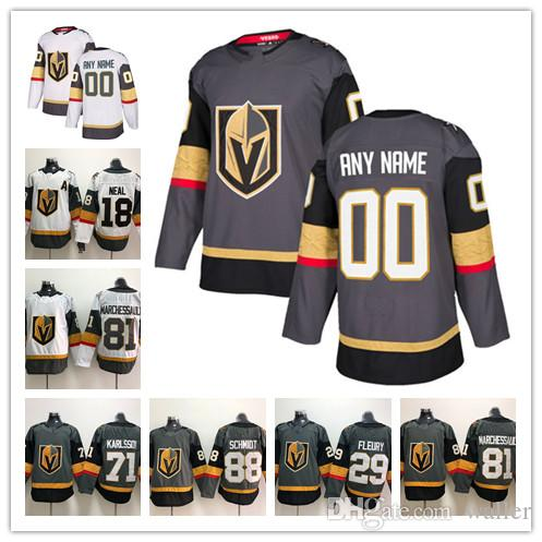 83c9131e5 2019 Custom Vegas Golden Knights ANY NAME  NO JERSEYS Men Women Kids 88  Schmidt 18 James Neal Hockey Jerseys Stitched Personalize From Waller