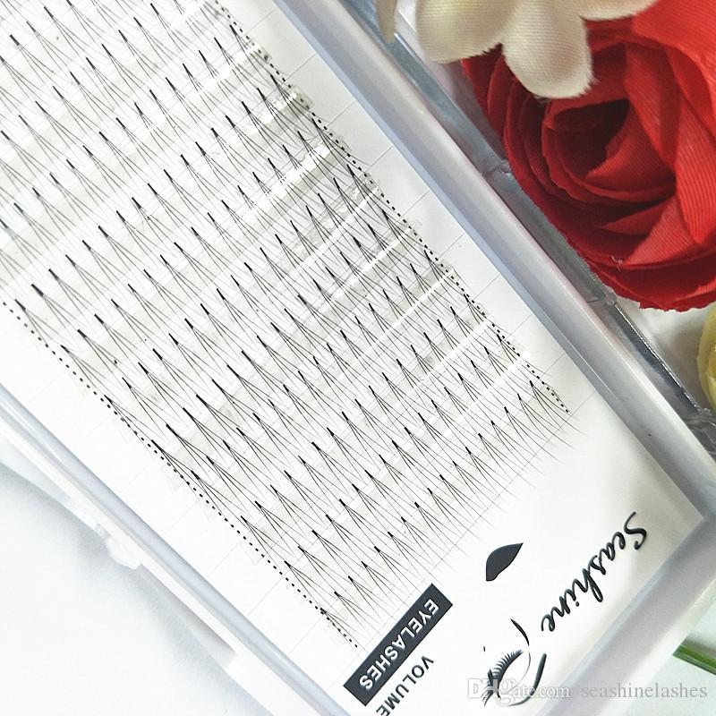 Seashine 1 bandeja Vástago regular Ventilador premezclado ruso en 3D volumen 0.07 / 0.10mm C curvatura de pestañas individuales extensión de pestañas falsas