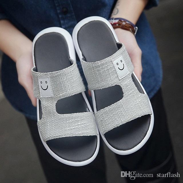 d55797343 New Brand Slippers Fashion Shoes Man Casual Shoes Slippers Beach ...