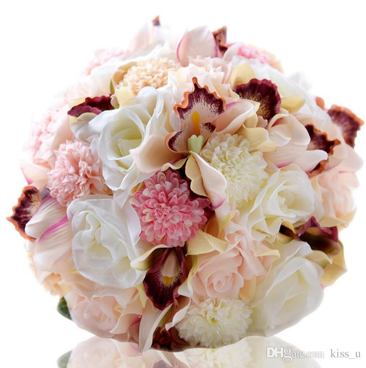 Silk Wedding Bouquet New 2018 Flowers Keepsake Bridal Bouquet Coral ...